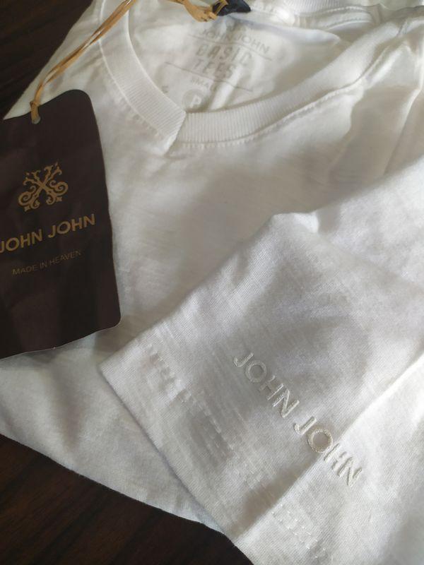 Kit 3 T-shirt Camiseta gola V Slub Basic Masculina JOHN JOHN