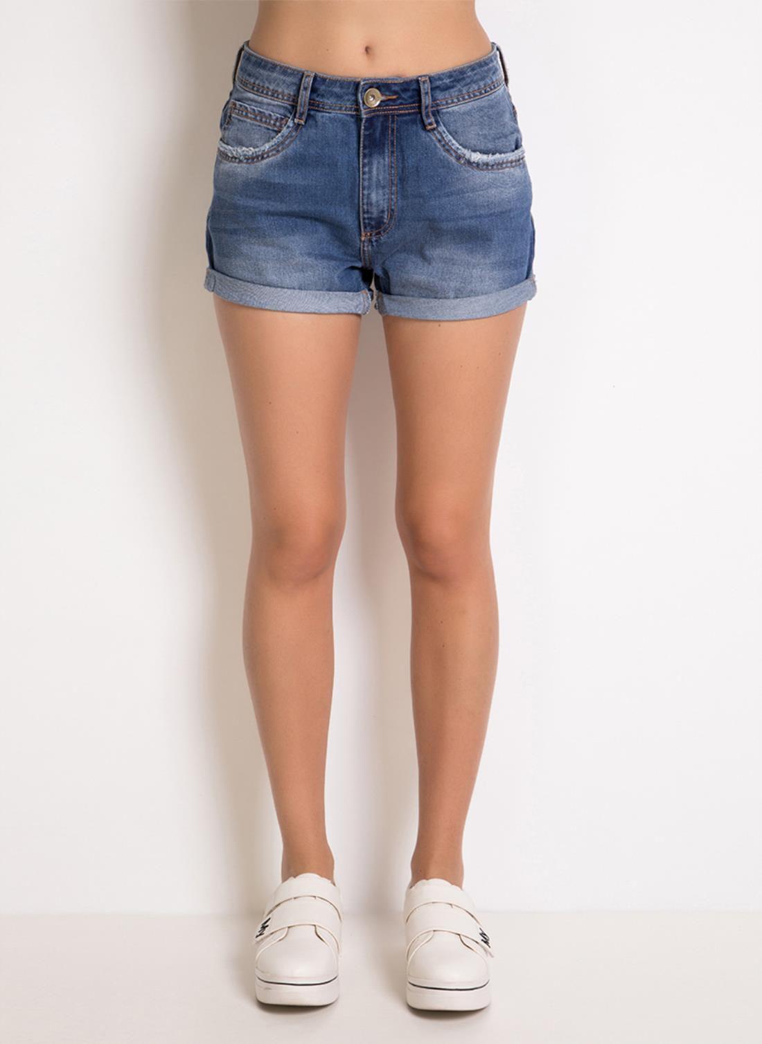 Short Jeans barra dobrada MyFT