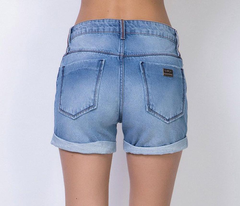 Short  Jeans High Slim Comfort Lança Perfume