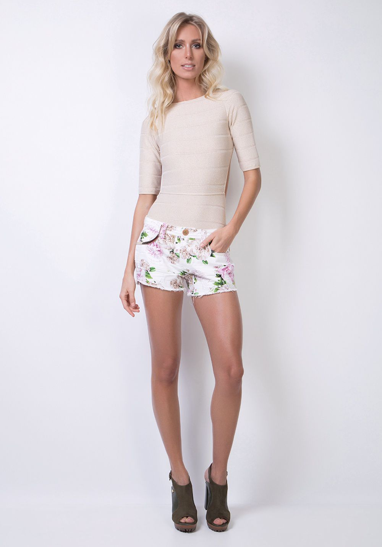 Short Low Slim Comfort Floral Lança Perfume