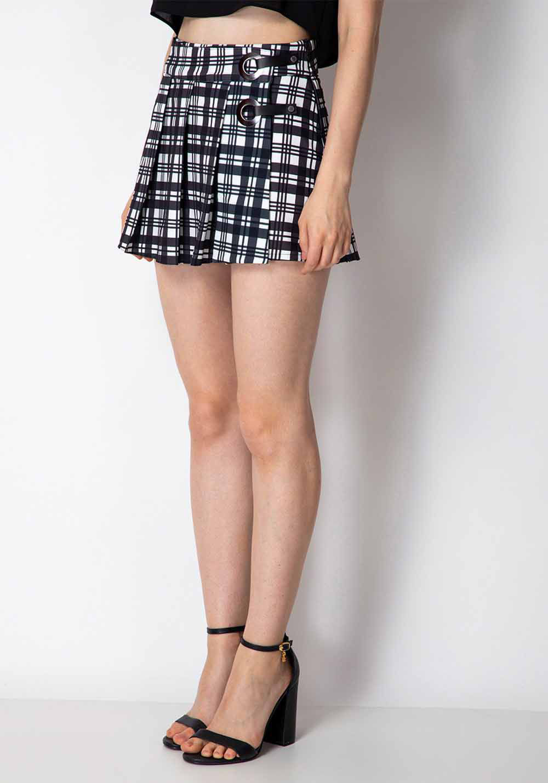 Short-saia Xadrez Lança Perfume