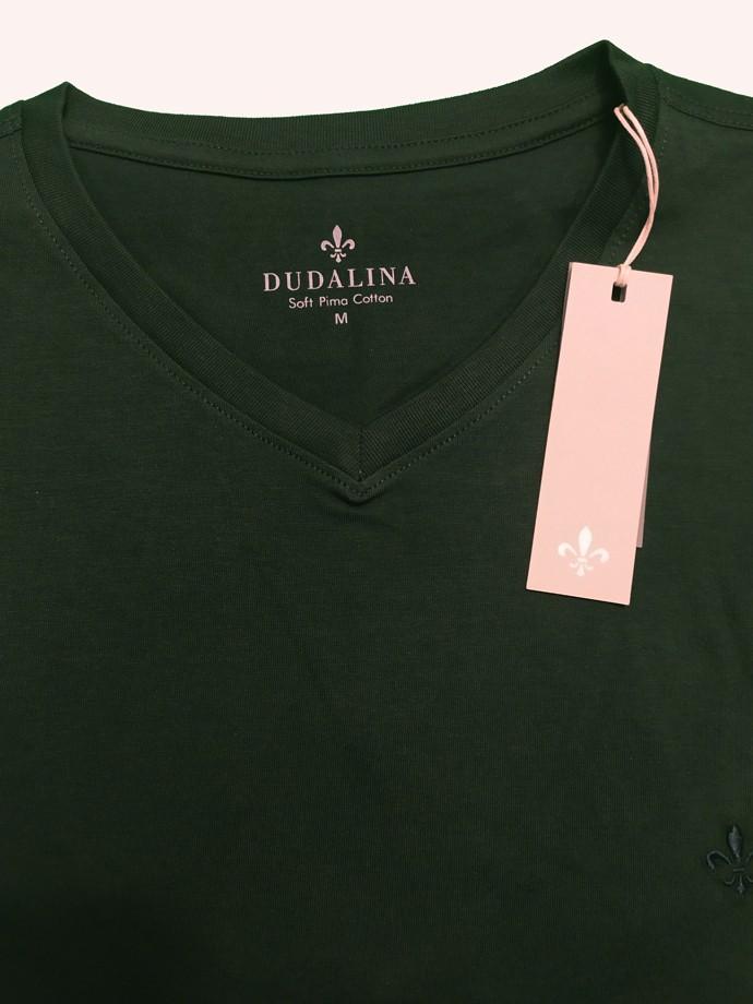 T-Shirt Camiseta Básica Gola V Soft Pima Cotton Dudalina