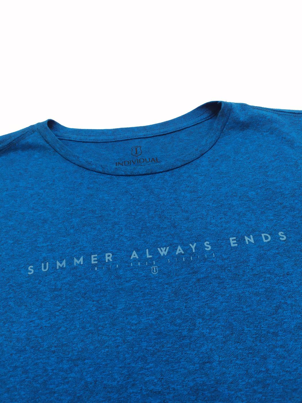 T-shirt Camiseta Comfort Fit Mesclada Individual