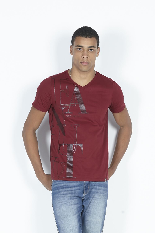 T-Shirt Camiseta  Decote V Estampa Frontal Dimy