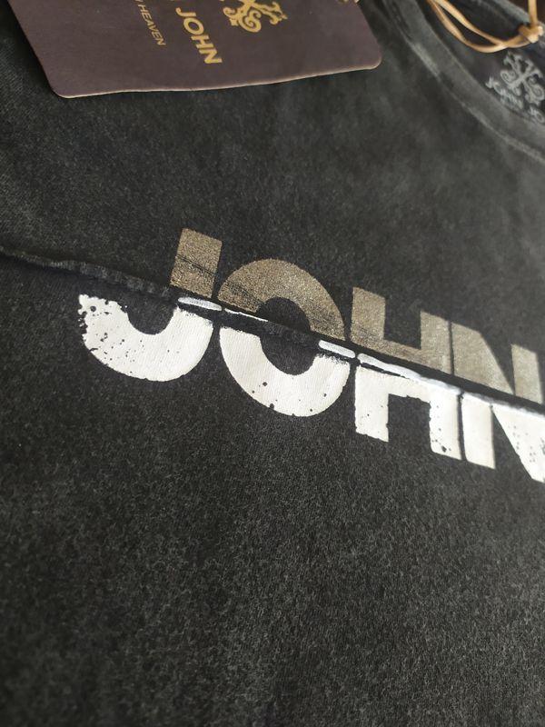 T-shirt Camiseta Estampada RG Foil Crease Cinza escuro Masculina JOHN JOHN