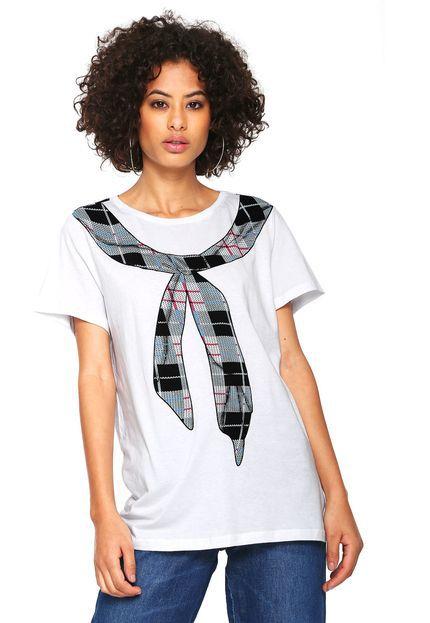 T-shirt Estampada Lenço Branca MyFT