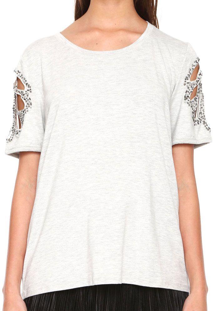 T-shirt Feminina com Termocolantes Recorte à laser MyFT