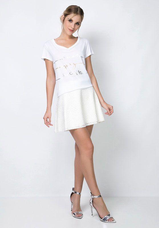 T-shirt White Celebration Lança Perfume