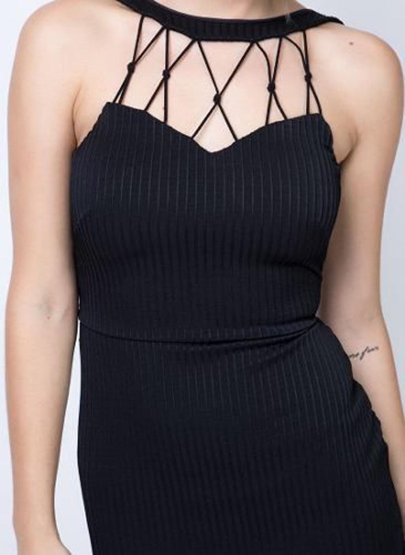Vestido Com Fenda MyFT