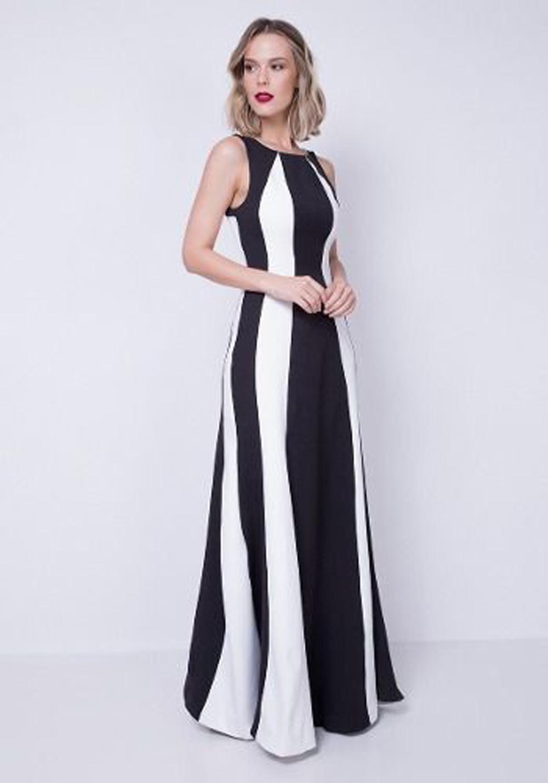 Vestido Longo P&b Lança Perfume