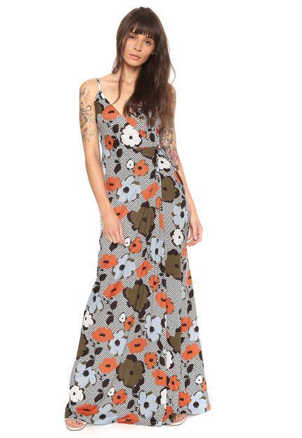 Vestido Transpassado Longo Floral  MyFT
