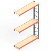Mini Porta Paletes Complementar 3.00x1.85x0.50 - 3 Níveis 300 Kg