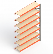 Mini Porta Paletes Complementar 3.00x1.85x0.60 - 7 Niveis 300 Kg