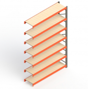 Mini Porta Paletes Complementar 3.00x1.85x0.60 - 7 Níveis 300 Kg