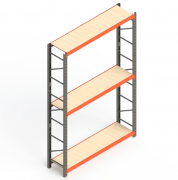 Mini Porta Paletes Inicial 3.00x1.85x0.60 - 3 Níveis 300 Kg