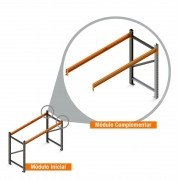 Porta Paletes Complementar 2.00x2.30x1.00 - 1 Níveis 1.000 Kg