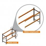 Porta Paletes Complementar 2.00x2.30x1.00 - 2 Níveis 1.000 Kg