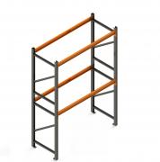 Porta Paletes Inicial A4.00xL2.30xP1.00 - 2 Níveis 500 Kg