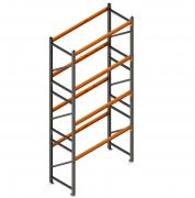 Porta Paletes Inicial A5.00xL1.22xP1.00 - 4 Níveis 2.000 Kg