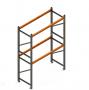 Porta Paletes Inicial A3.00xL1.22xP1.00 - 2 Níveis 2.000 Kg