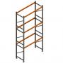 Porta Paletes Inicial A5.00xL1.22xP1.00 - 3 Níveis 1.000 Kg