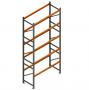 Porta Paletes Inicial A5.00xL1.22xP1.00 - 5 Níveis 2.000 Kg