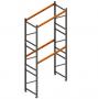 Porta Paletes Inicial A5.00xL2.30xP1.00 - 2 Níveis 2.000 Kg