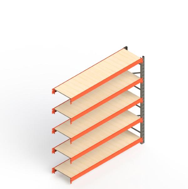 Mini Porta Paletes Complementar 2.00x1.85x0.60 - 5 Níveis 300 Kg