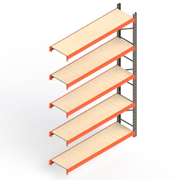 Mini Porta Paletes Complementar 3.00x1.85x0.50 - 5 Níveis 300 Kg