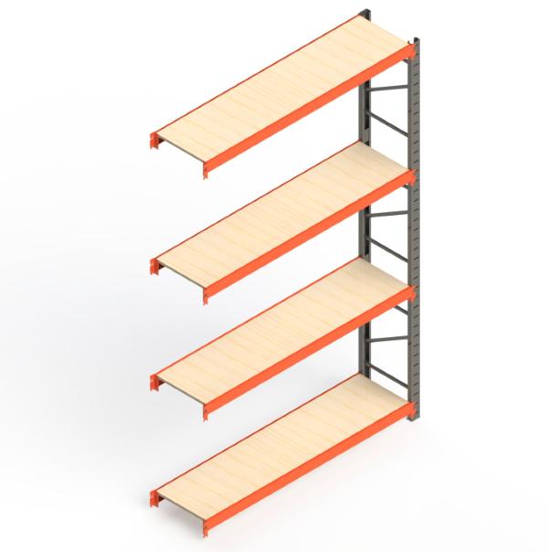 Mini Porta Paletes Complementar 3.00x1.85x0.60 - 4 Níveis 300 Kg