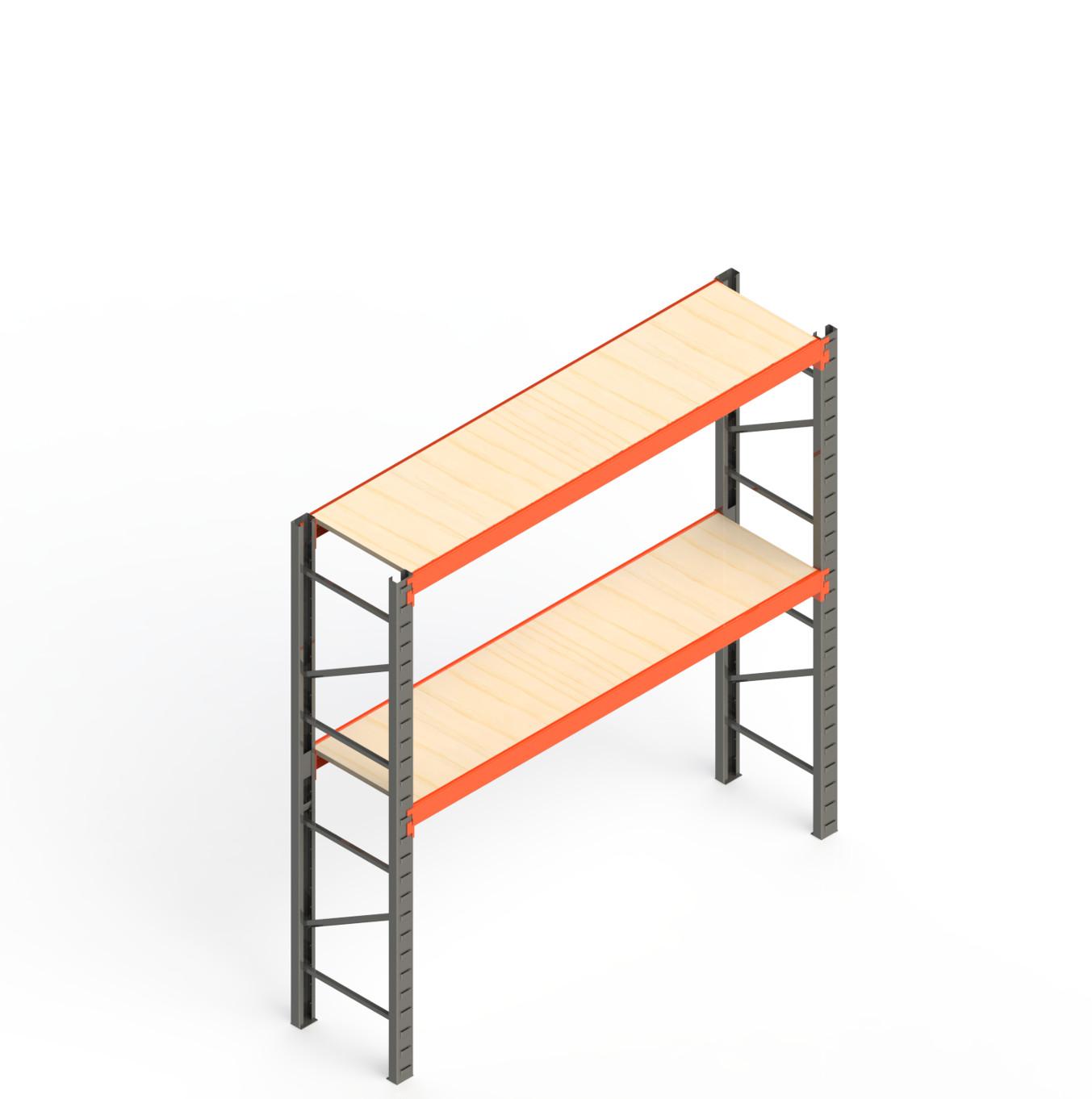 Mini Porta Paletes Inicial 2.00x1.85x0.60 - 2 Niveis 300 Kg