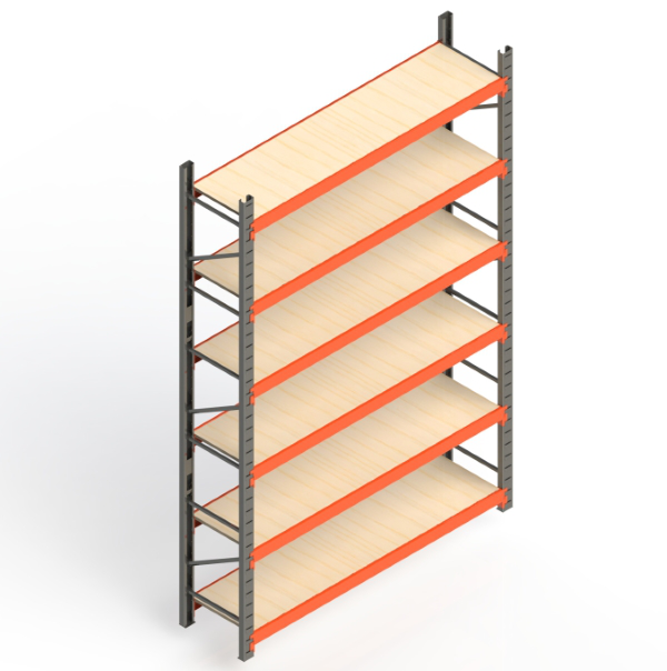 Mini Porta Paletes Inicial 3.00x1.85x0.60 - 6 Níveis 300 Kg