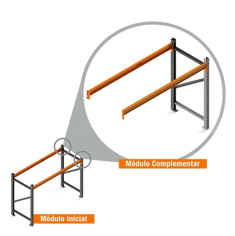 Porta Paletes Complementar 2.00x1.22x1.00 - 1 Níveis 1.000 Kg