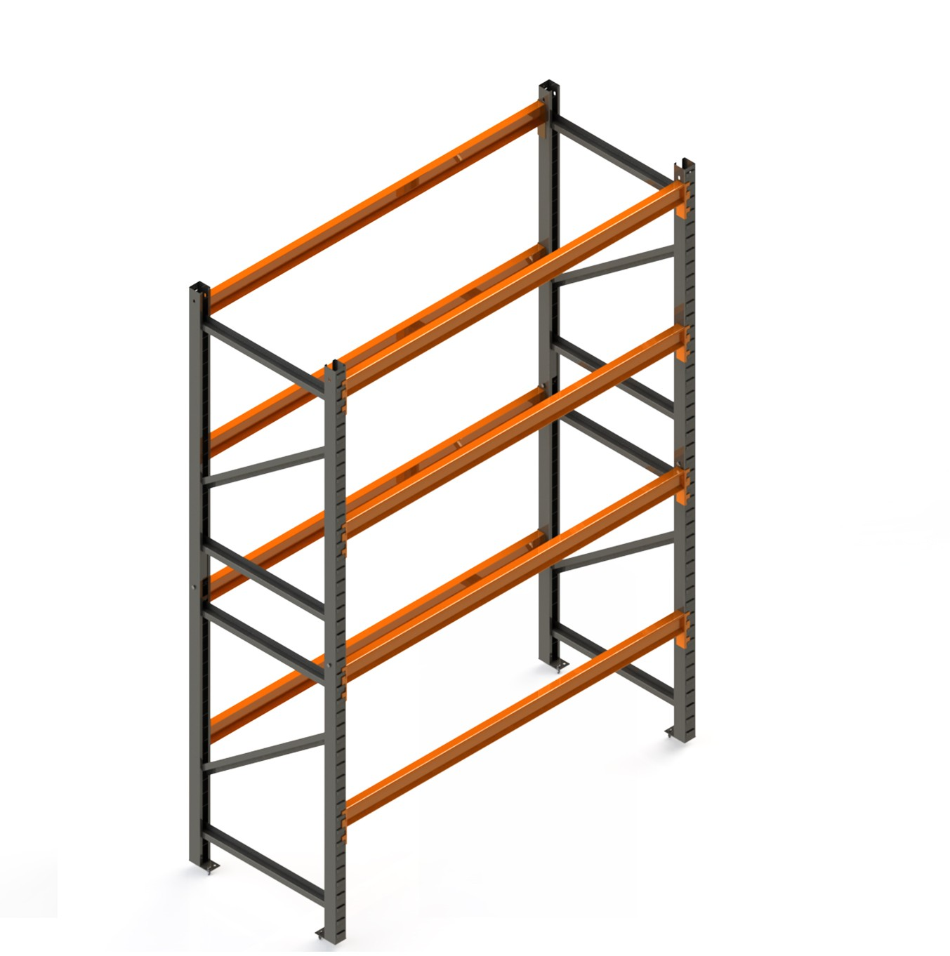 Porta Paletes Inicial 4.00x1.22x1.00 - 4 Níveis 2.000 Kg