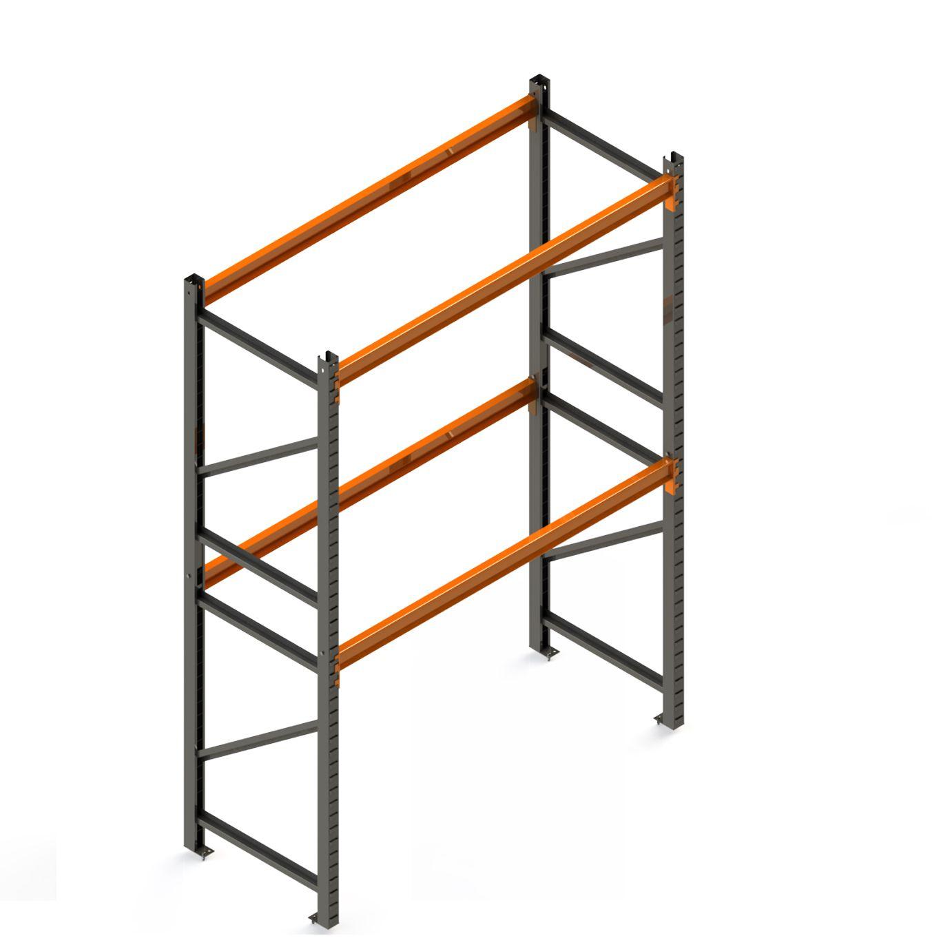 Porta Paletes Inicial A4.00xL1.22xP1.00 - 2 Níveis 2.000 Kg