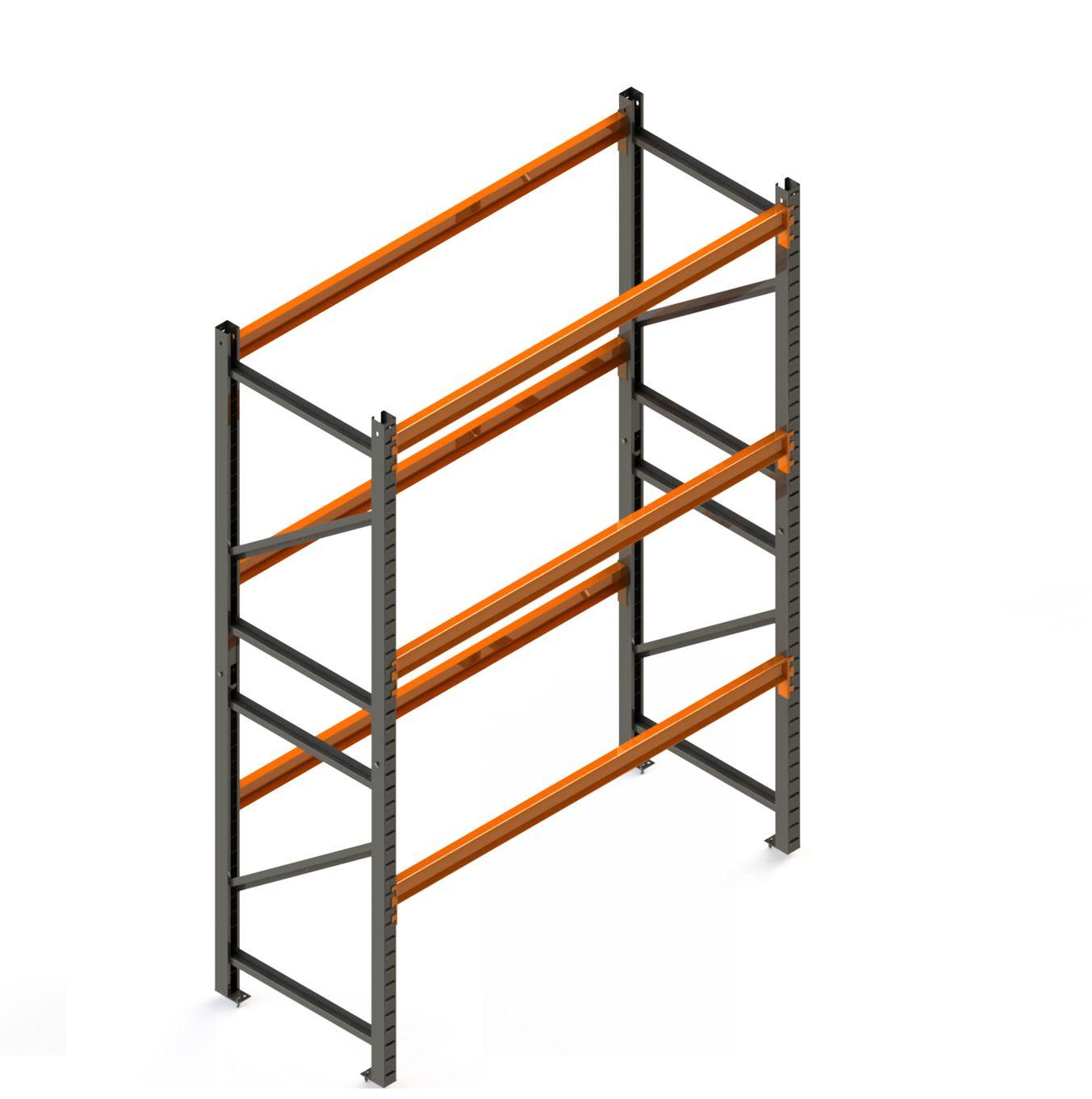 Porta Paletes Inicial A4.00xL1.22xP1.00 - 3 Níveis 2.000 Kg