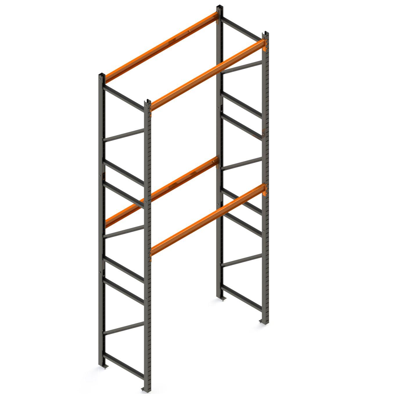 Porta Paletes Inicial A5.00xL1.22xP1.00 - 2 Níveis 1.000 Kg