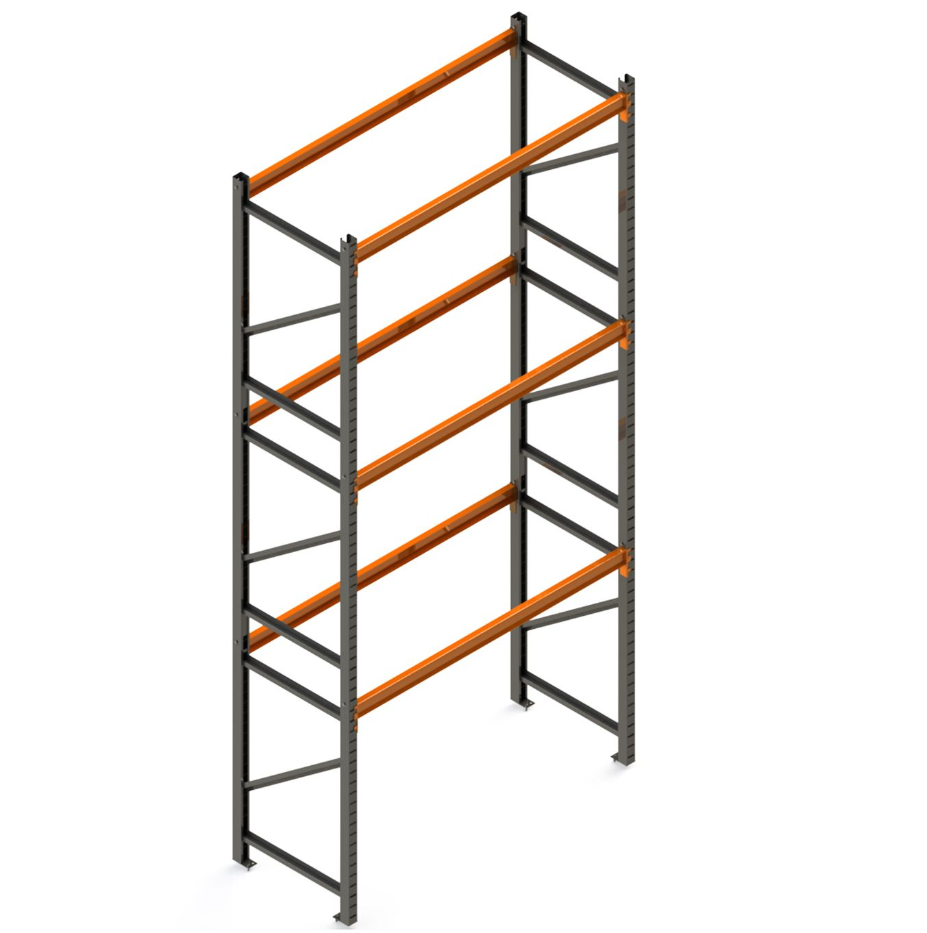 Porta Paletes Inicial A5.00xL2.30xP1.00 - 3 Níveis 500 Kg
