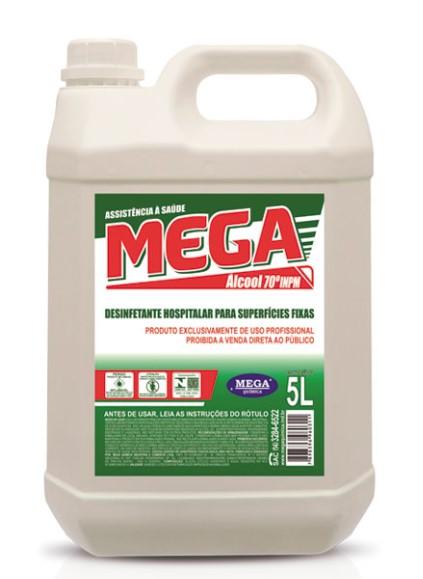 Álcool Liquido 70% Mega - 05 litros