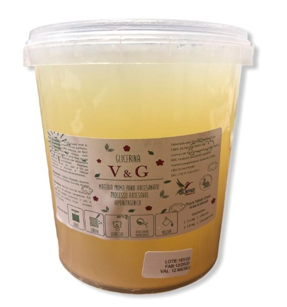 BASE GLICERINADA PARA SABONETE TRANSPARENTE - 01kg