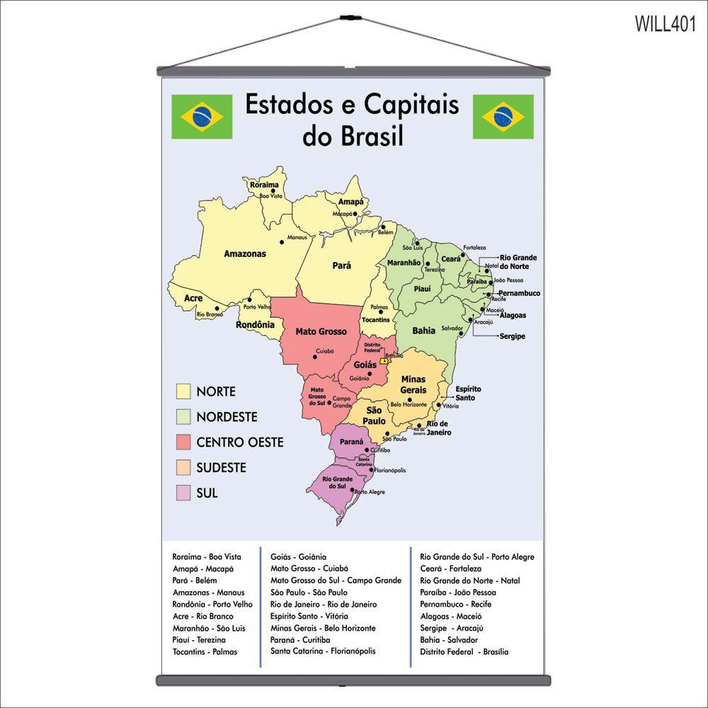Resultado de imagem para estados e capitais do brasil