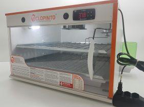 Chocadeira Eclopinto - 240 Ovos + Ovoscópio Giratório + Ar Forçado + Água e Viragem Automática