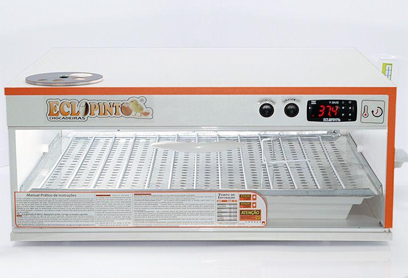 Chocadeira Eclopinto - 130 Ovos + Ovoscópio Giratório + Água e Viragem Automática