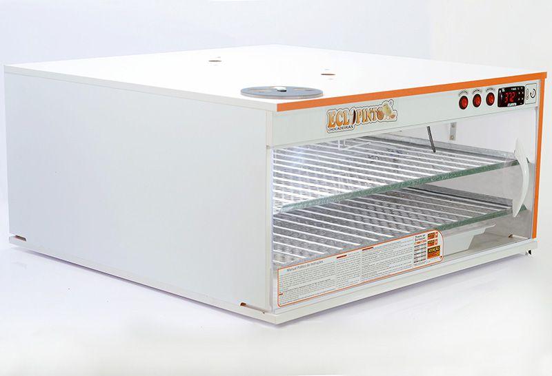 Chocadeira Eclopinto - 260 Ovos + Ovoscópio Giratório + Ar Forçado + Viragem Automática + Resistência Extra