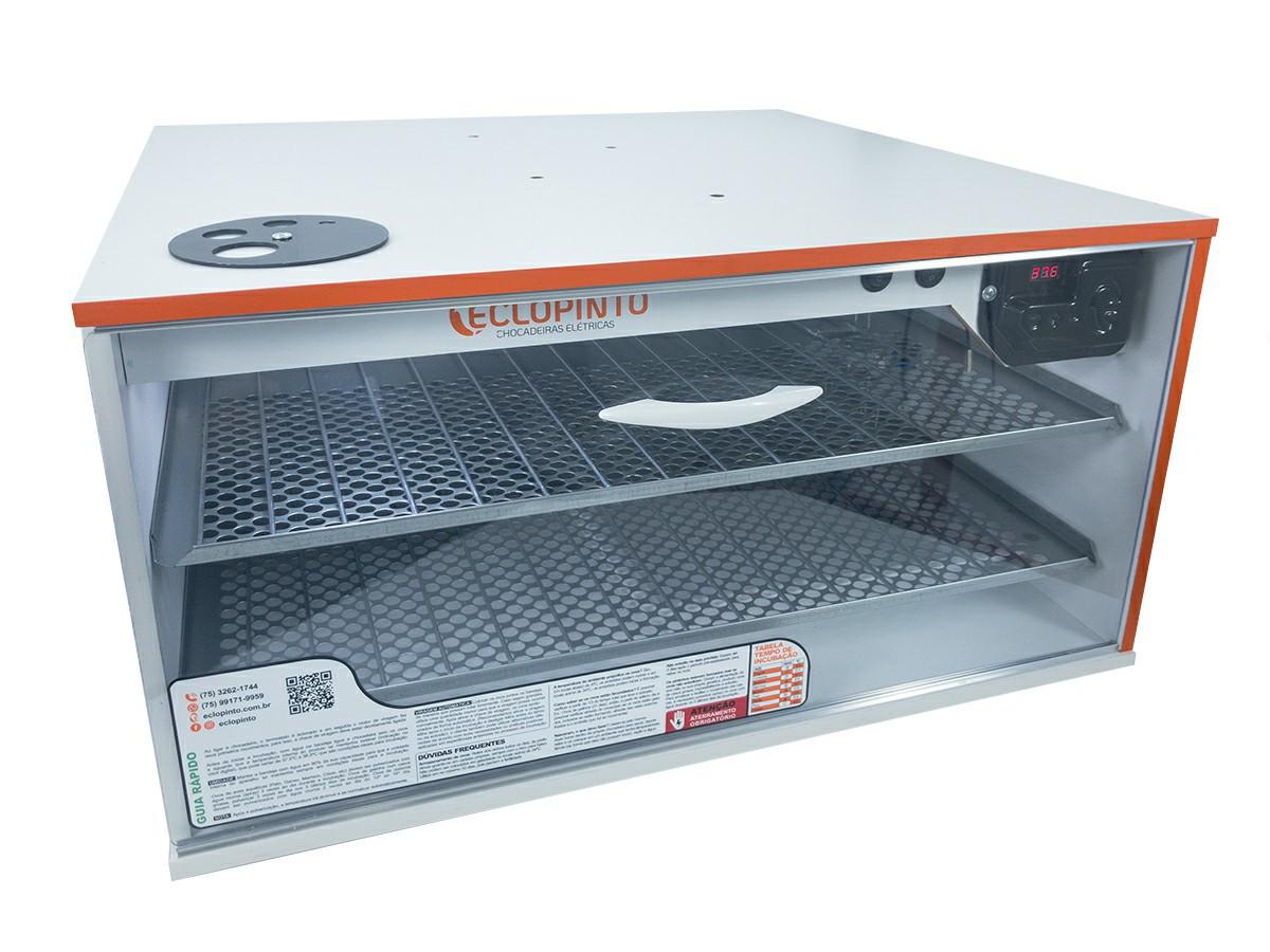 Chocadeira Automática - 300 a 360 Ovos + Ovoscópio + Água Automática e Resistência Extra