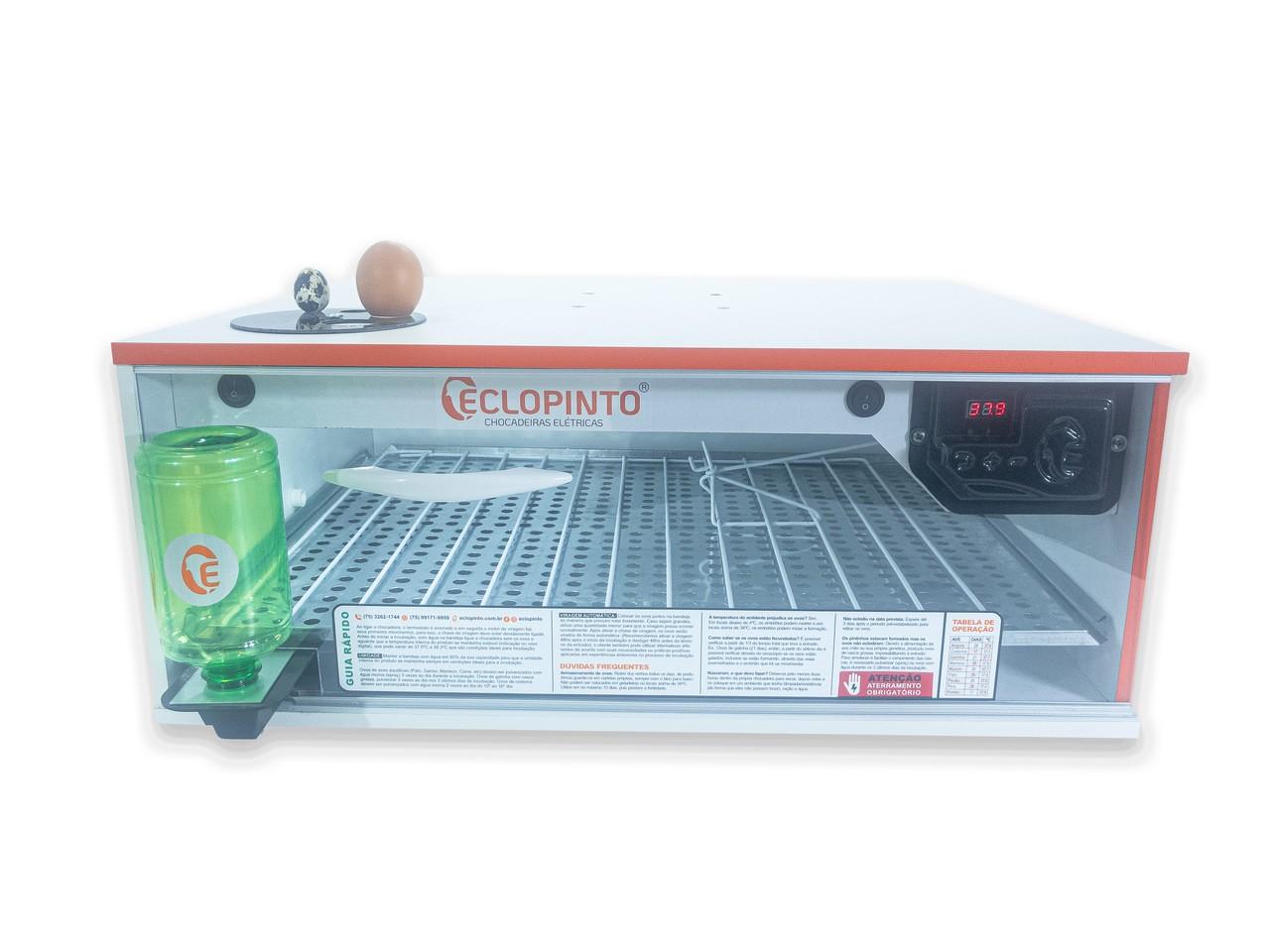 Chocadeira Automática - 72 Ovos + Ovoscópio e Água Automática
