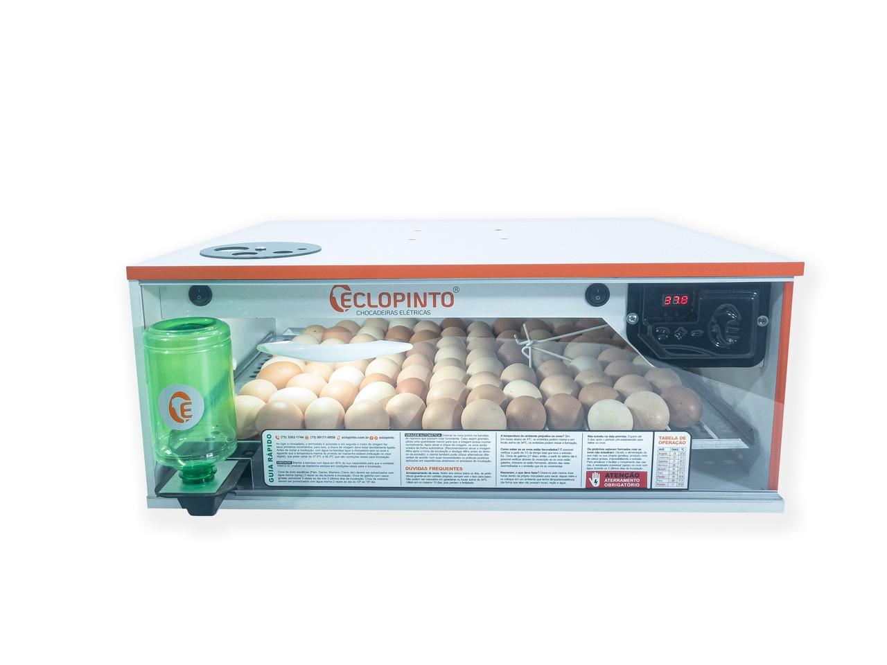 Chocadeira Automática - 80 Ovos + Ovoscópio