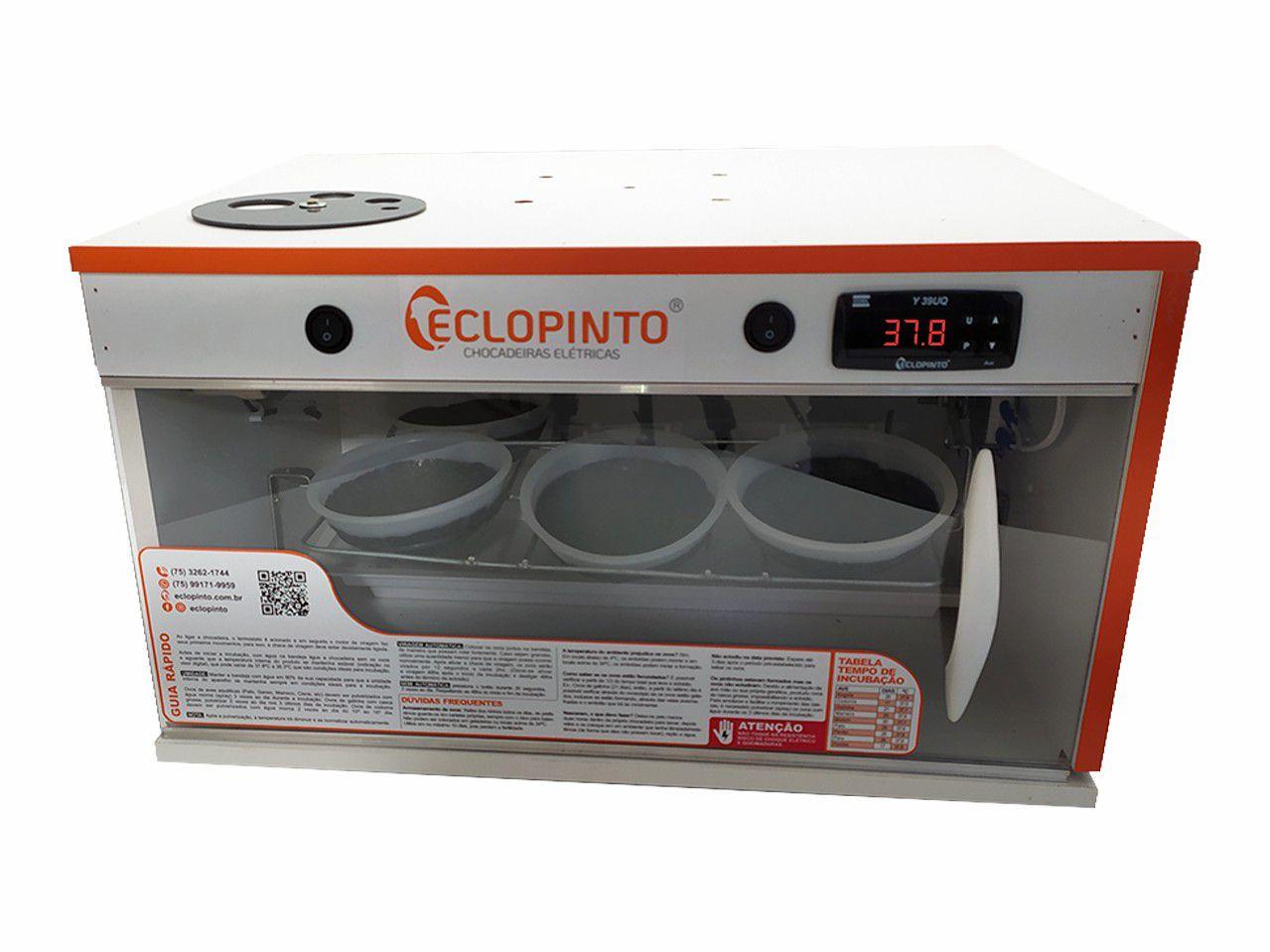 Chocadeira Eclopinto - 06 Ninhos + Ovoscópio Giratório + Viragem Automática