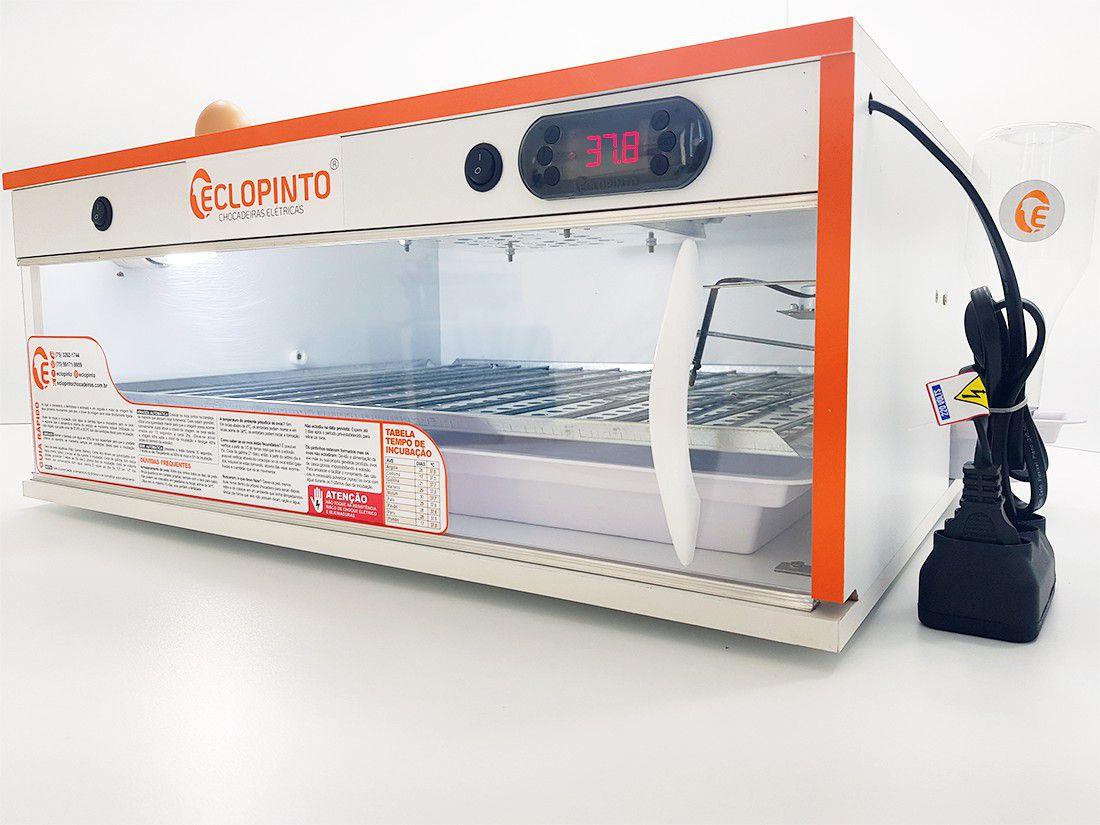 Chocadeira Eclopinto - 115 a 120 Ovos + Ovoscópio Giratório + Água e Viragem Automática