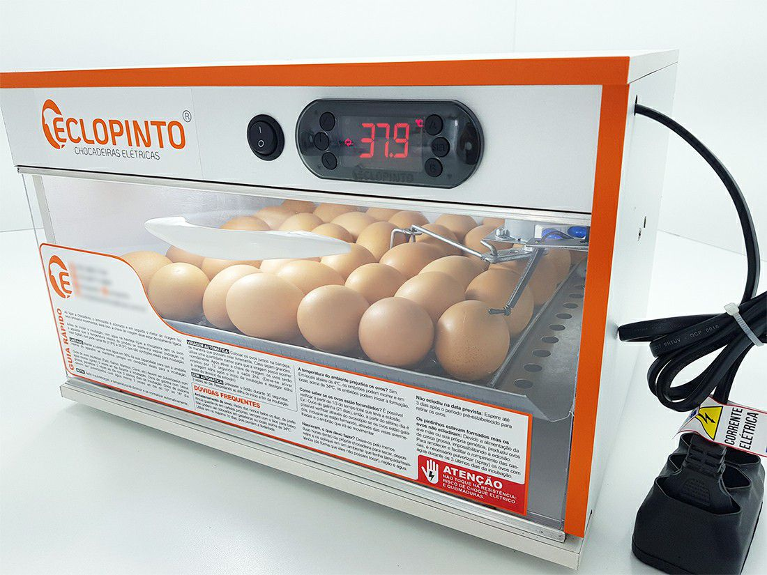 Chocadeira Eclopinto - 30 Ovos + Viragem Automática